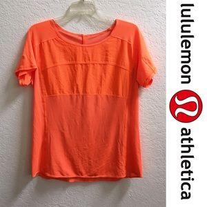 Lululemon Lightweight Orange Shirt